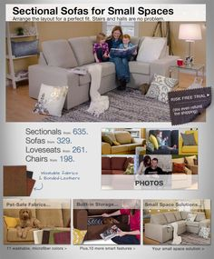 Removable pieces, storage under cushions, space saving arms Love Sac Sectional, Sectional Sofa, Sofas For Small Spaces, Small Space Solutions, Tiny Apartments, Living Room Furniture, Living Rooms, Pet Safe, Built In Storage