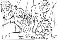 daniel and the lions den coloring page   Daniel in the Lion\'s Den ...