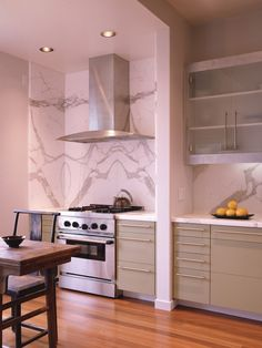 Carrara Marble Slab Backsplash Design, Pictures, Remodel, Decor and Ideas