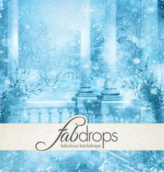 Fab Backdrops - Fab Drops Frozen Ice Palace Photography Backdrop  *** 20% OFF Backdrop Coupon *** http://www.fabbackdrops.com/photography-backdrop-coupons/