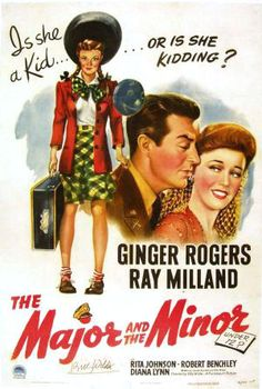 Major and the Minor- Ray Milland and Ginger Rodgers (1942)