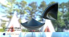Coconut Chair Modeled with Cinema 4D & Rendered with Maxwell Render_02