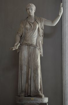 The statue is a Roman copy of a Greek original of the end of the cent. The head is plaster cast from ancient head. Rome, Vatican Museums, Pius-Clementine Museum, Room of the Greek Cross, 21 Ancient Rome, Ancient Greece, Plaster Cast, Museum, 5 Cents, Vatican, Roman Empire, Mythology, Greek