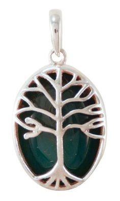 Silver Tree Sterling Silver Pendant (Aventurine) >>> See this great product.