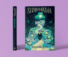 Siddhartha Book Cover Illustration on Behance Best Book Covers, Beautiful Book Covers, Book Cover Art, Book Cover Design, Book Design, Book Art, Cover Books, Game Design, Antique Books