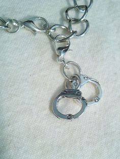 Handcuff  Clip Charm Zipper Pull Great For Handbags Bracelets Necklaces by PersnicketyPatty on Etsy
