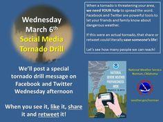Social Media Drill from @NWSNorman Wednesday afternoon #OKwx #AltusOK #Skywarn