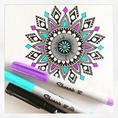 cool designs to draw with sharpie flowers - Google Search