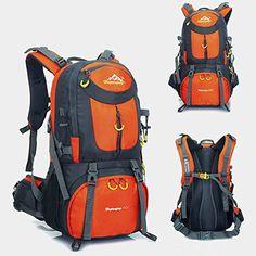 21af7d48e9ce Holidayli 50L Unisex Outdoor Sports Rucksack Waterproof Backpack Daypack  Bags for Men Women Hiking Trekking Camping