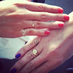Love knot pinky ring twinsies with @Geri Hirsch at #luckyfabb - @arielgordonjewelry- #webstagram