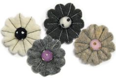 Dimensions Needlecraft Felt Embellishments, Neutral Flower Mix #DimensionsNeedlecraft