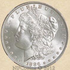 1886 Morgan Dollar MS67 NGC, obverse