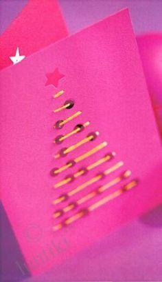 Новогодняя открытка своими руками - елочка