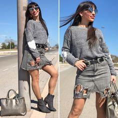 Heart patches - Temporada: Primavera-Verano - Tags: look, ootd, fashion, moda, streetstyle, stardivariusblog - Descripción: look total gris con detalle de parches #FashionOlé