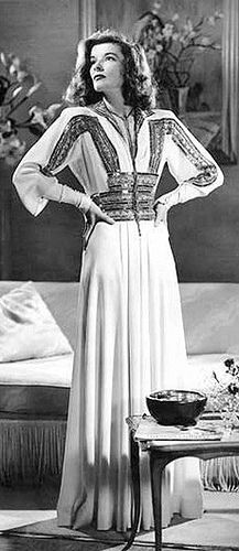 Katherine Hepburn in The Philadelphia Story (1940). Costume by Adrian.