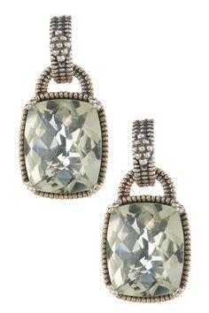 Sterling Silver Green Amethyst -Prasiolite Drop Earrings by Non Specific on @HauteLook