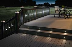 Lighted black balusters