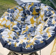 Make yourself comfortable from the plush, curved seat of the Belham Living Kambree All Weather Wicker Outdoor Papasan Chair with Cushion . Papasan Chair, Chair Cushions, Look Good Feel Good, Quality Furniture, Hanging Chair, Timeless Fashion, Baby Car Seats, Wicker, Plush