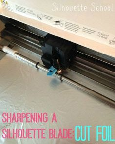 Sharpening a Silhouette Blade: Cutting Foil to Extend the Life of a Blade