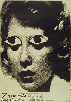 Zaćmienie częściowe, plakat filmowy, 1982 (Partially Eclipse) Mieczysław Wasilewski