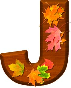 Presentation Alphabets: Cherry Wood Leaves Letter J Monogram Alphabet, Alphabet And Numbers, Fall Fest, Create Words, Happy Fall Y'all, Cellphone Wallpaper, Flower Patterns, Presentation, Clip Art