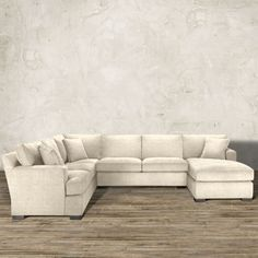 """Dune 139"""" Upholstered Right Three Piece Sectional in Driscoll Marble"""