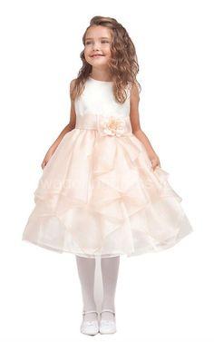 Sleeveless A-line Ruffled Dress With Bow