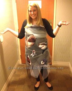 Inexpensive DIY Costume Idea: Sharknado Coming Through!...