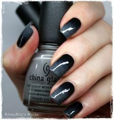 Black and grey ombre nails - best nail art Black Ombre Nails, Nails Yellow, Dark Nails, Red Nails, Hair And Nails, Grey Ombre, Glitter Acrylics, Coffin Shape Nails Acrylics, Acrylic Nails