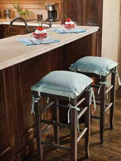 Blue Bar Stools Kitchen Furniture - Maybe among the most used chairs in your home is the kitchen bar stool. They may envis 36 Inch Bar Stools, Pink Bar Stools, Counter Height Bar Stools, Wood Bar Stools, Kitchen Seating, Wooden Kitchen, Kitchen Paint, Kitchen Chairs, Kitchen Design