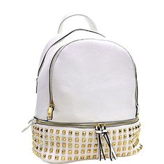 Dasein Buffalo Faux Leather Studded Backpack Studded Backpack, Faux Leather  Backpack, Backpack Purse, 54e6c0ec9d