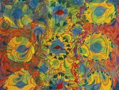 Artwork by Philip Taaffe, ANURADHAPURA, Made of acrylic on paper mounted to canvas