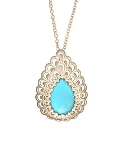 Merry Christmas - Neely Necklace in Turquoise - Kendra Scott Jewelry
