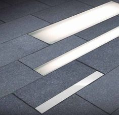 Recessed floor lights outside outdoor public space Facade Lighting, Exterior Lighting, Outdoor Lighting, Lighting Design, Lighting Ideas, Exterior Paint Colors, Paint Colors For Home, Exterior Siding, Exterior Design