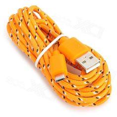 Usb to Micro Usb Data Cable for Samsung Galaxy Tab 3 10.1 / P5200 / P5210 / P3200 - Orange (3m)