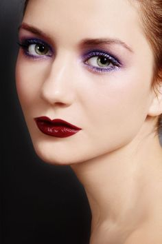 This is a very stylized and dramatic Smoky Eye. Not for the office!