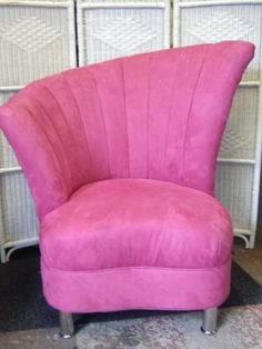 fuzzy pink reading chair. Mine is a sling chair though.