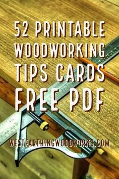 Woodworking School 52 printable woodworking tips cards. This is the whole set of woodworking tips cards that you can print out and enjoy. Have fun learning about woodworking, and happy building. Woodworking Courses, Woodworking School, Woodworking Guide, Woodworking Patterns, Woodworking Workbench, Popular Woodworking, Woodworking Techniques, Fine Woodworking, Woodworking Crafts