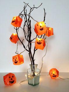 DIY Prepare Origami Halloween Lights