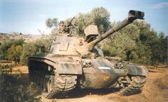 Hellenic Army M48 Patton with infrared sight.