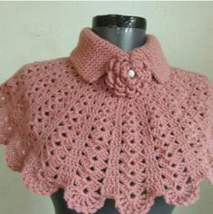 Christmas gift crochet capelet cowl neck warmer by ScarfsSale Col Crochet, Crochet Cape, Crochet Collar, Crochet Gifts, Crochet Scarves, Crochet Shawl, Crochet Clothes, Free Crochet, Crochet Neck Warmer