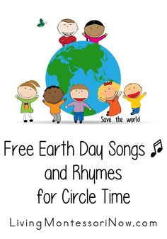 Lots of free YouTube videos with Earth Day songs or information plus a list of Earth Day songs and rhymes with lyrics for a variety of ages at home or in the classroom.