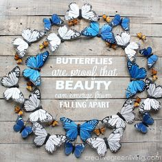 "How to Make Rustic ""Butterflies are Proof..."" Wall Art. #creativegreenliving #palletart #butterflies#rustic #farmhousestyle"