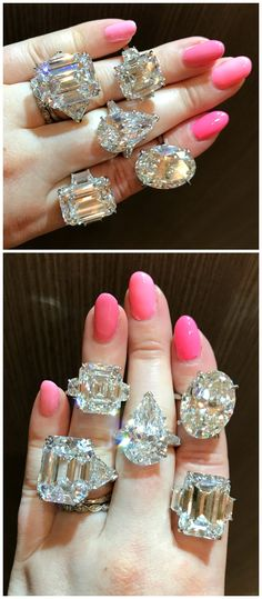 b26946e44ae86 A hand full of glorious diamond rings by the legendary Kwiat! Any one of  these