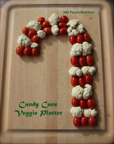 Candy Cane Veggie Platter! Perfect fun and healthy option for your next holiday party!