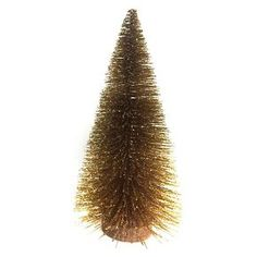 "Bottle Brush Tree with Wood Base Gold 12"" -Threshold™"