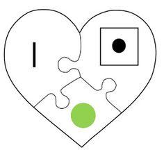 Juf Shanna: Hart Puzzel - Combineren van cijfers en aantal