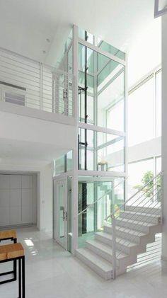 Image result for glass elevator interior villa