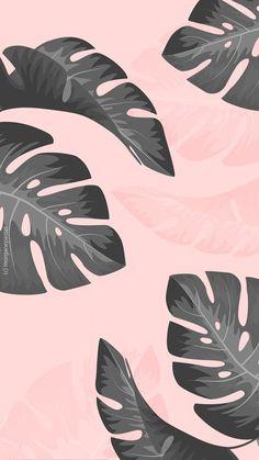 free wallpaper/ fond d'écran palmier tropical black pink iphone