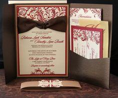 Gorgeous Fall Romance Wedding Invitations por TheFunkyOlive